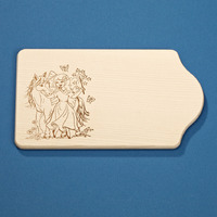 CUTTING BOARD WITH UNICORN AND FAIRY