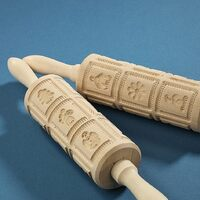 SPRINGERLE ROLLING PIN 34CM 12 CHRISTMAS DESIGNS