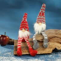 Gnome Shelf Sitter Red And Grey 17cm 2 Designs