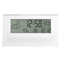 VERTEX - WHITE LCD WITH WEATHER STATION BY ACCTIM