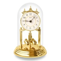 WHITE DIAL WESTMINSTER CHIME ANNIVERSARY CLOCK ARABIC NUMERALS 23CM