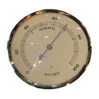 GOLD HYGROMETER INSERT WITH IVORY DIAL 84MM BY FISCHER