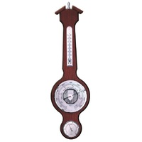 Walnut Traditional Barometer/ Thermometer/hygrometer 55cm By FISCHER