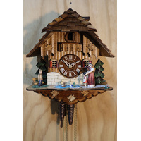 CHALET 1 DAY BLACK FOREST LADY WITH HEIDI CUCKOO CLOCK 33CM BY SCHNEIDER