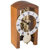 CHERRY MECHANICAL SKELETON TABLE CLOCK BY HERMLE