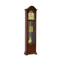 WALNUT WESTMINSTER CHIME GRANDFATHER CLOCK WITH MOON PHASE BY HERMLE