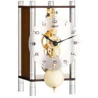 WALNUT MODERN MECHANICAL SKELETON TABLE CLOCK BY HERMLE