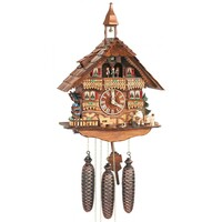 CHALET WOOD CHOPPER WITH WATER WHEEL AND BELL TOWER BY SCHNEIDER