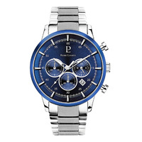 CAPITAL CHRONOGRAPH - SILVER BLUE DIAL SILVER LINK BAND BY PIERRE LANNIER