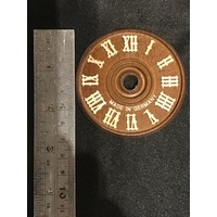 DIAL FOR CUCKOO CLOCK WOODEN BROWN DIAL 70MM