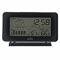 Vega - Black LCD With Weather Station By ACCTIM