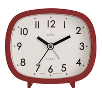 HILDA - RED SWEEP HAND ALARM CLOCK BY ACCTIM