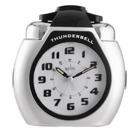 Thunderbell - Silver Xl Loud Bell Alarm Clock By ACCTIM