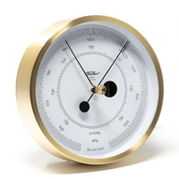 Brushed Brass Barometer In Polar Series 13cm By FISCHER