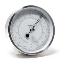 Polished Stainless Steel Thermometer In Polar Series 13cm By FISCHER