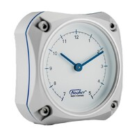 Silver Edition Aluminium Cockpit Series Clock 9.7cm By FISCHER