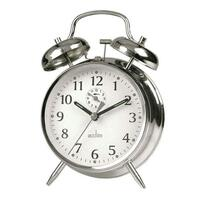 Saxon - Chrome Double Bell Alarm Clock By ACCTIM
