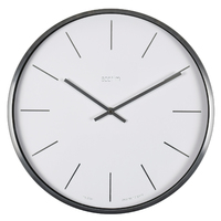 Federal - Chrome Wall Clock 40cm By ACCTIM
