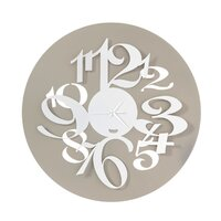 Sand/white Focus Modern Wall Clock 50cm By ARTI E MESTIERI
