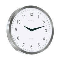 Brushed Metal Wall Clock 30cm By HERMLE