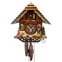 Chalet 1 Day Black Forest Couple 23cm Cuckoo Clock By TRENKLE