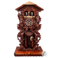 Carved Battery Table Hunting Style With Dancers 53cm Cuckoo Clock By TRENKLE