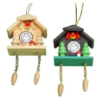 Cuckoo Clock Fridge Magnet Christmas Decoration 8cm