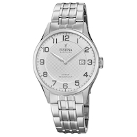 Swiss Silver With Silver Dial And Silver Metal Strap By FESTINA