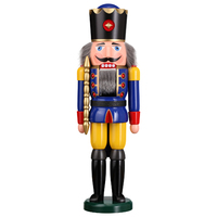 King In Blue Nutcracker 50cm