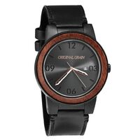 Watch - OG - Barrel - Sapele Matte 47mm Black Leather Band