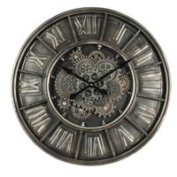 Dark Grey Moving Gear Maaike Wall Clock 60cm