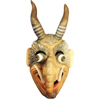 Hand Carved And Painted Wooden Masks - Designs 2