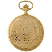 GOLD PLATED MECHANICAL POCKET WATCH WITH CREST DESIGN BY CLASSIQUE