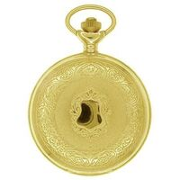 Gold Plated Pocket Watch With Etched Design By CLASSIQUE
