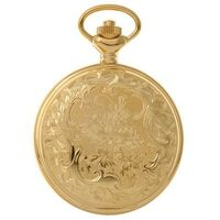 GOLD PLATED POCKET WATCH WITH FLORAL DESIGN BY CLASSIQUE