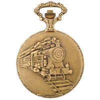 Pocket Watch - Classique - Antique Gold Train