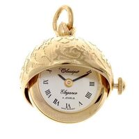 Gold Plated Ball Bell Pendant Watch By CLASSIQUE