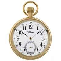 GOLD PLATED MECHANICAL POCKET WATCH WITH OPEN DIAL BY CLASSIQUE