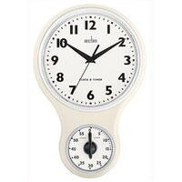 Kitchen Time - Cream Clock with Timer By ACCTIM