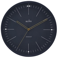Solna - Midnight Sweep Hand Wall Clock 28cm By ACCTIM