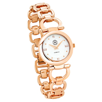 Kimberley White Dial Rose Gold Ladies Watch By RINGERS WESTERN
