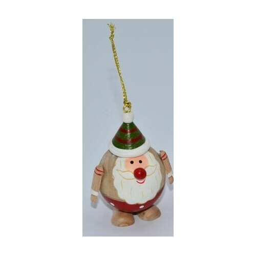 Santa In Spotty Pants Christmas Tree Decoration 7cm