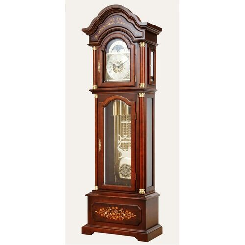 Tubular Bell Triple Chime Grandfather Clock With Inlay By AMS