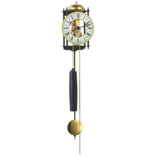 Black Skeleton Wall Clock With Gold Dial By HERMLE