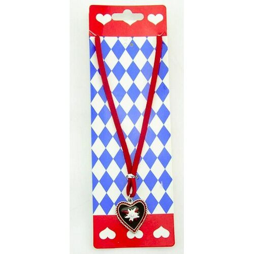 Bavarian - Necklace Edelweiss Red