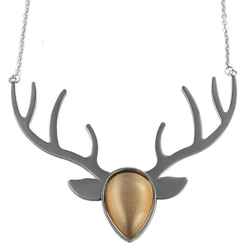 Bavarian - Necklace Deer Antler Beige
