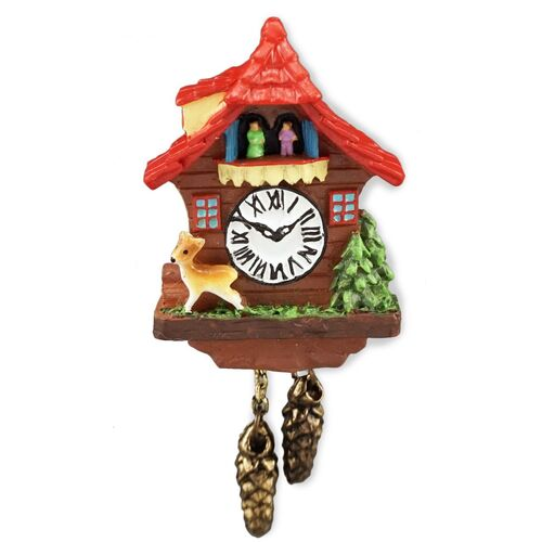 Miniature Cuckoo Clock Red Roof - RP - 1.394/5