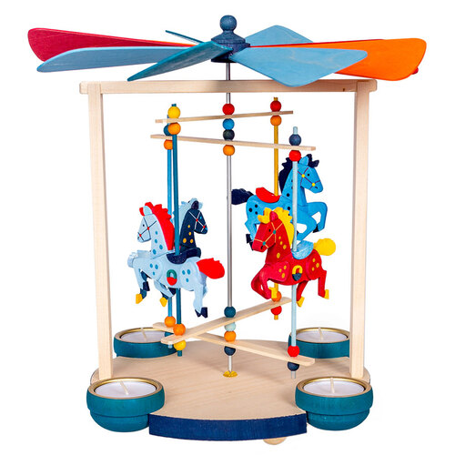 CAROUSEL WITH 4 HORSES 30CM PYRAMID