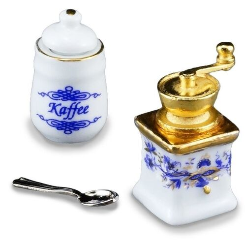 MINIATURE COFFEE GRINDER AND STORAGE BOX ONION DESIGN