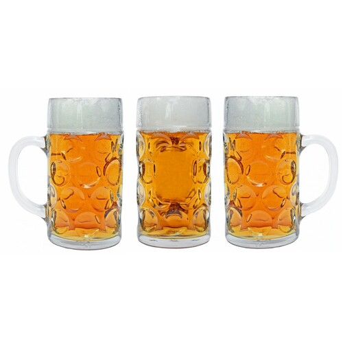 GLASS BEER MUG 1 LT